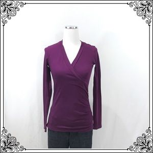 "CAbi Purple ""Hanky Wrap"" Top #2727"